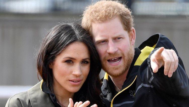 El Príncipe Harry y Meghan Markle presenciando las pruebas de los Juegos Invictus 2018