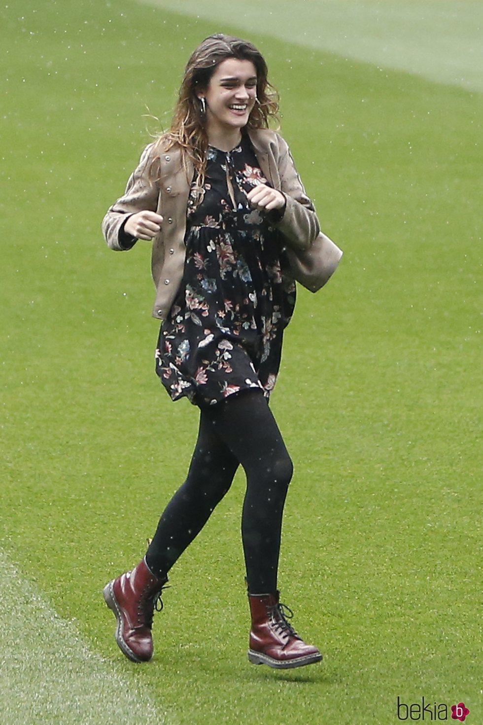 Amaia Romero en el Estadio Santiago Bernabéu