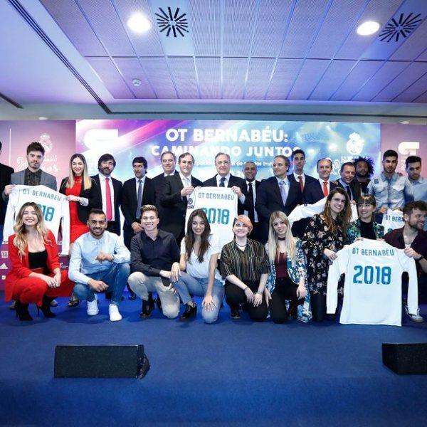 Presentación del concierto solidario de 'OT 2017' en el Estadio Santiago Bernabéu