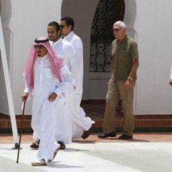 El Rey Salman de Arabia Saudí con su hijo el Príncipe Mohamed bin Salman