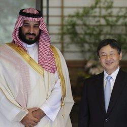 El Príncipe Mohamed bin Salman de Arabia Saudí con el Príncipe Naruhito de Japón