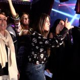 Isabel Pantoja, Anabel Pantoja e Irene Rosales en el concierto de Kiko Rivera