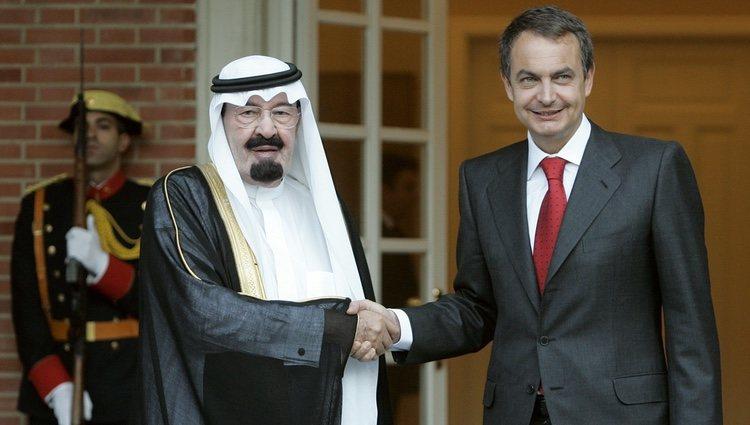 El Rey Abdalá de Arabia Saudí junto al Presidente del Gobierno José Luis Rodríguez Zapatero