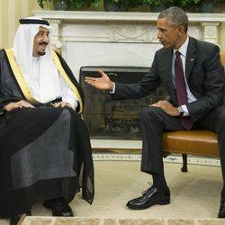 El Rey Salmán de Arabia Saudí con Barack Obama en 2015