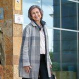 La Reina Sofía muy sonriente tras reconciliarse con la Reina Letizia