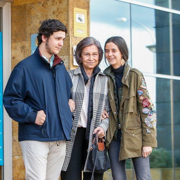 Visitas de la Familia Real al Rey Juan Carlos tras su operación de rodilla