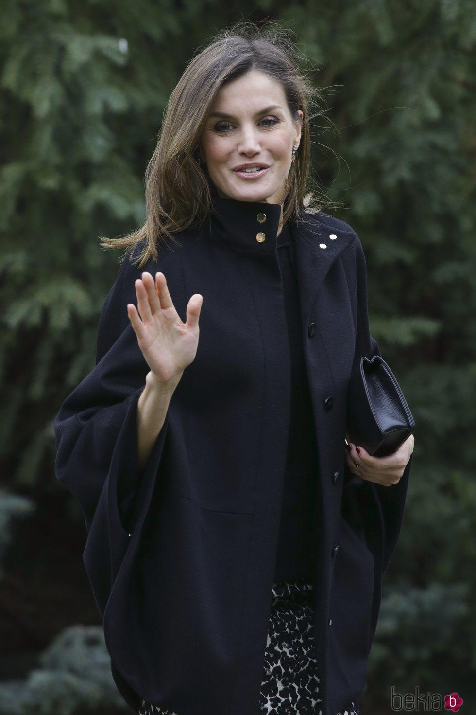 La Reina Letizia en su primer acto oficial tras la reconciliación con la Reina Sofía