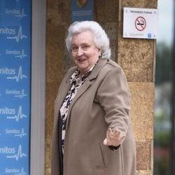 La Infanta Pilar visita al Rey Juan Carlos en el hospital