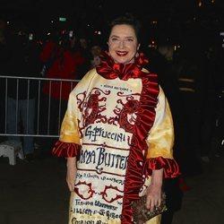 Isabella Rossellini en un desfile de Dolce & Gabbana en Nueva York