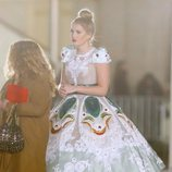 Lady Kitty Spencer en un desfile de Dolce & Gabbana en Nueva York