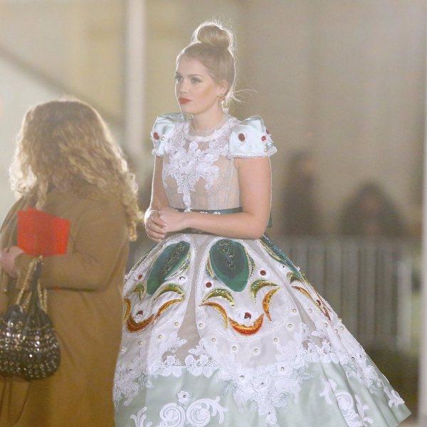 Famosos en el desfile de Dolce & Gabbana en Nueva York