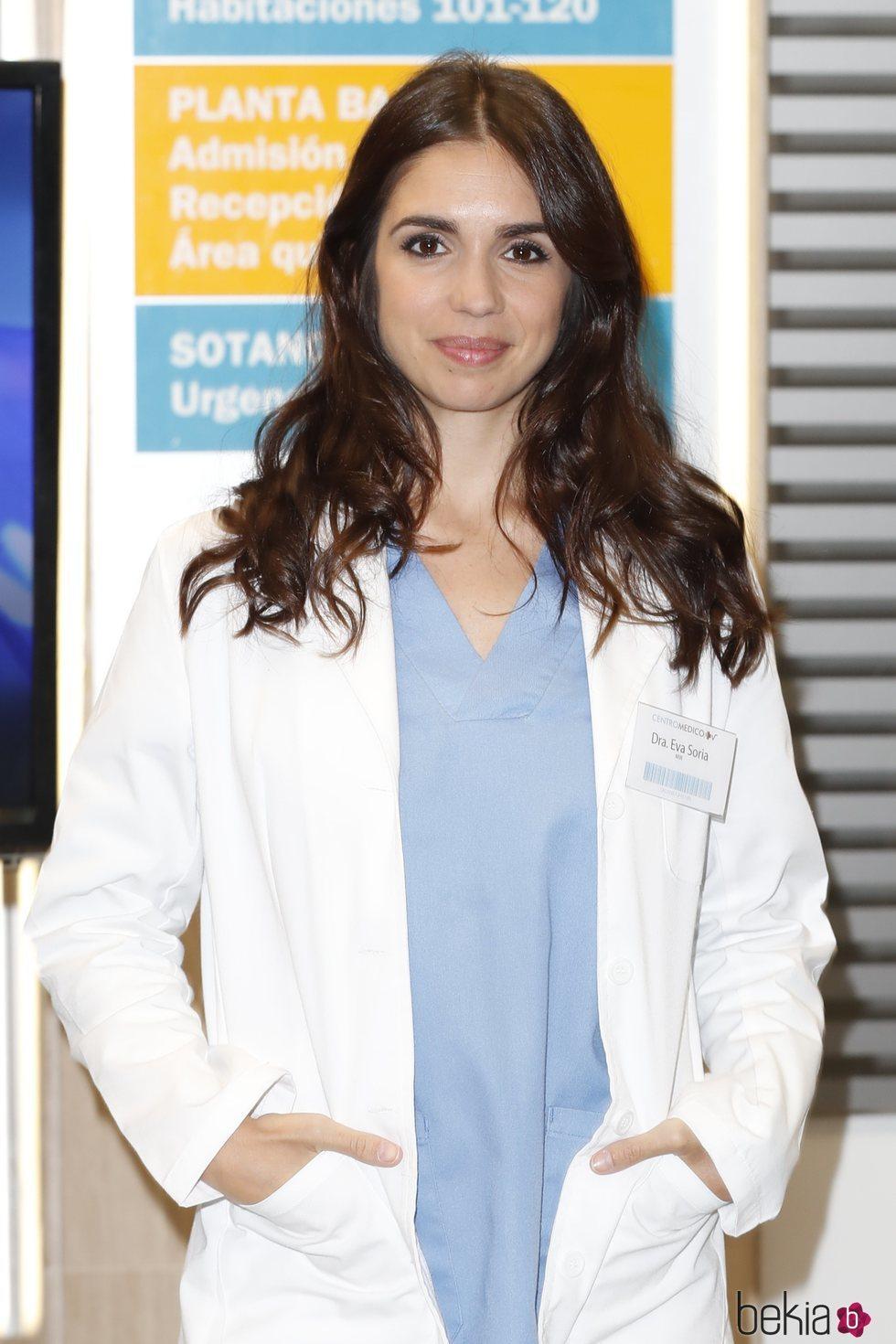 Elena Furiase en su presentación como nuevo personaje de 'Centro Médico'