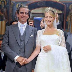 Nicolás de Grecia y Tatiana Blatnik en su boda