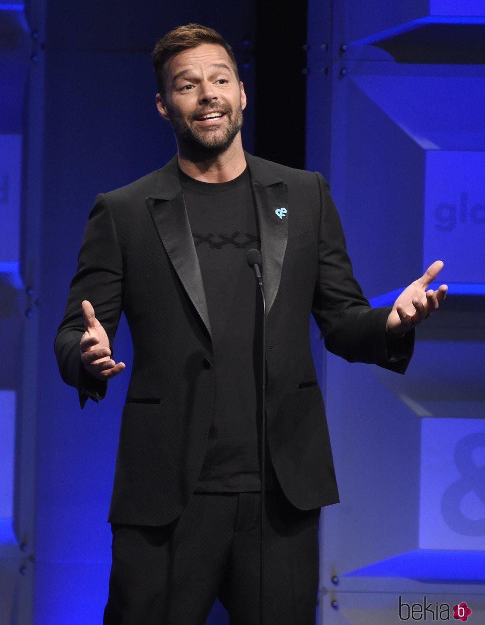 Ricky Martin en los GLAAD Awards de 2018