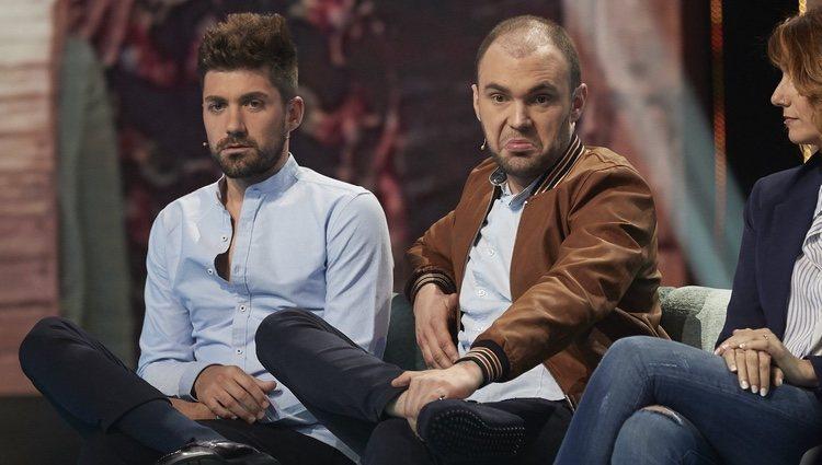 Alejandro Albalá y Cristian Suescun en la gala 5 de 'Supervivientes 2018'