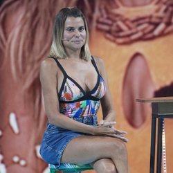 María Lapiedra durante la gala 5 de 'Supervientes 2018' tras su expulsión