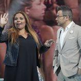 Jorge Javier Vázquez con Saray Montoya en la gala 5 de 'Supervivientes 2018'