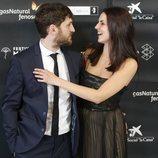 Raúl Arévalo y Melina Matthews en la ceremonia de inauguración del Festival de Cine de Málaga 2018