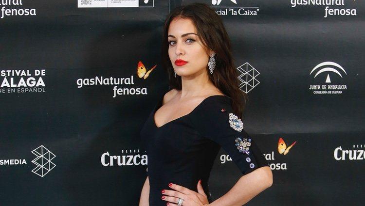 Hiba Abouk en la ceremonia de inauguración del Festival de Cine de Málaga 2018