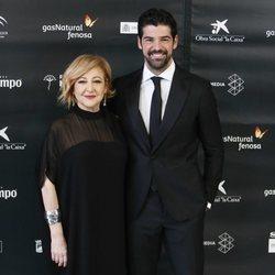 Carmen Machi y Miguel Ángel Muñoz en la ceremonia de inauguración del Festival de Cine de Málaga 2018