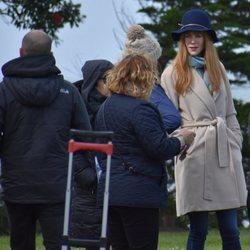 Nicole Kidman con un sombrero en el rodaje de la segunda temporada de 'Big Little Lies'