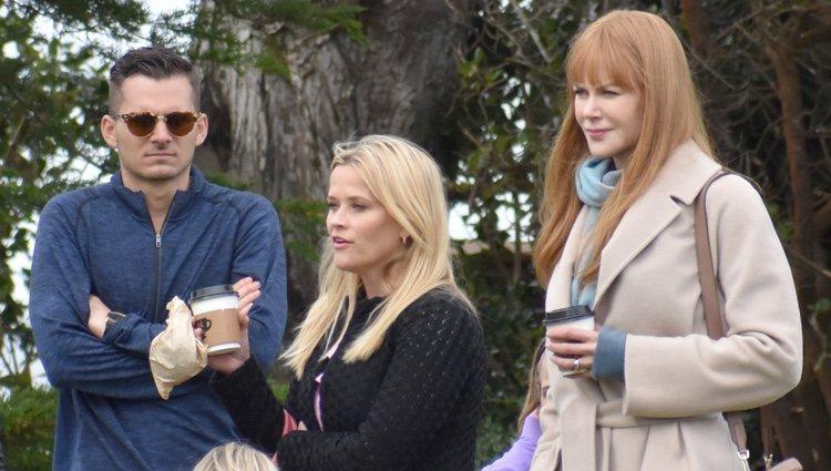 Reese Whiterspoon y Nicole Kidman en el rodaje de la segunda temporada de 'Big Little Lies'