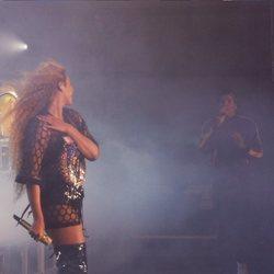 Beyoncé y Jay-Z actuando juntos en el festival Coachella 2018