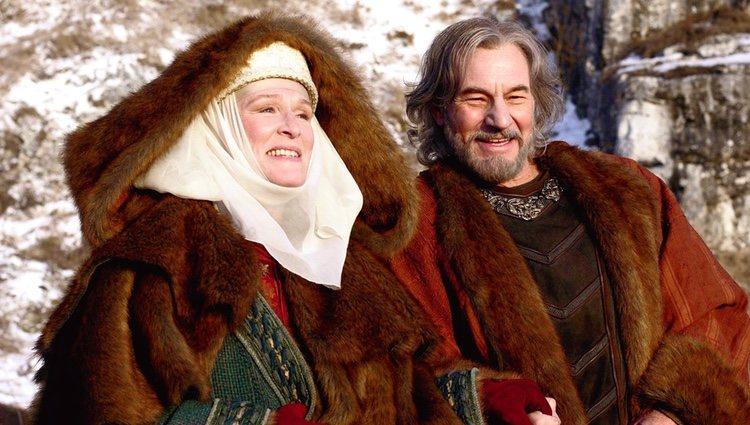 Glenn Close y Patrick Stewart en la película 'El león en invierno'