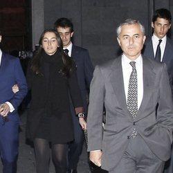 Fernando Romero junto a sus hijos Fernando y Alejandra y Álvaro López Cotelo en el Funeral de Estado por Adolfo Suárez