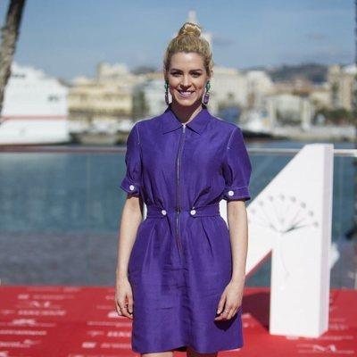 Maggie Civantos en la presentación de la nueva temporada de 'Vis a Vis' en el Festival de Málaga 2018