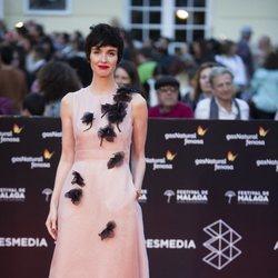 Paz Vega en la alfombra roja del Festival de Málaga 2018