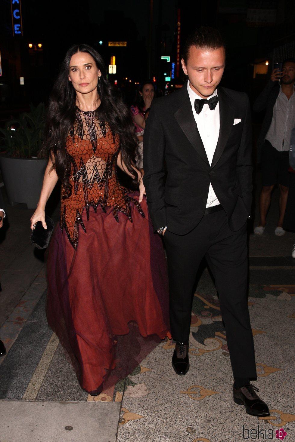 Demi Moore en la fiesta preboda de Gwyneth Paltrow y su pormetido