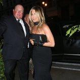 Jennifer Aniston en la fiesta preboda de Gwyneth Paltrow y su pormetido