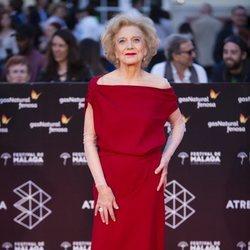 Marisa Paredes en la alfombra roja del Festival de Málaga 2018
