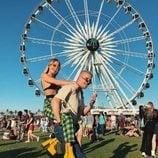 La influencer Jessica Goicoechea y su novio en la Festival Coachella 2018