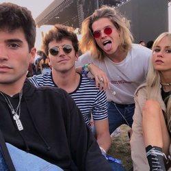 Marc Forné, Joan Pala, Biel Juste y Mónica Anoz en el Coachella 2018
