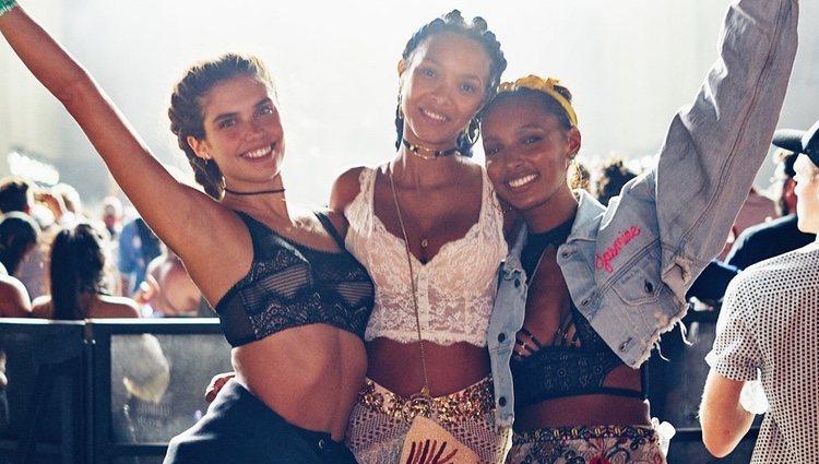 Sara Sampaio, Lais Ribeiro y Jasmine Tookes en el Coachella 2018