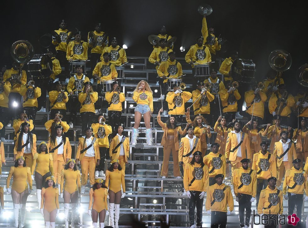 Beyoncé en su actuación en el Coachella 2018