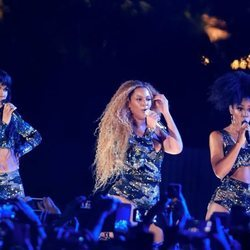 El grupo Destinity's Child actuando en el Coachella 2018