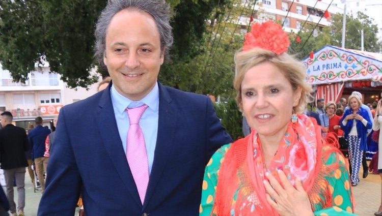 Eugenia Martínez de Irujo y Narcís Rebollo en la Feria de Abril 2018
