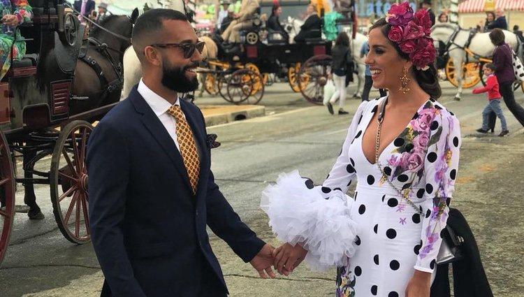 Anabel Pantoja y su novio Omar Sánchez en la Feria de Abril 2018