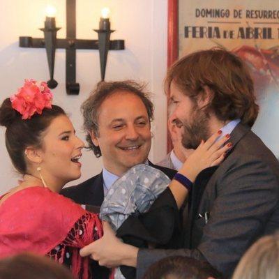 Cayetana Rivera, Narcís Rebollo y Rosauro Varo en la Feria de Abril 2018