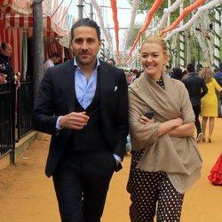 Marta Ortega y Carlos Torretta en la Feria de Abril 2018