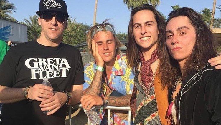 Justin Bieber y la banda de rock Greta Van Fleet en Coachella 2018