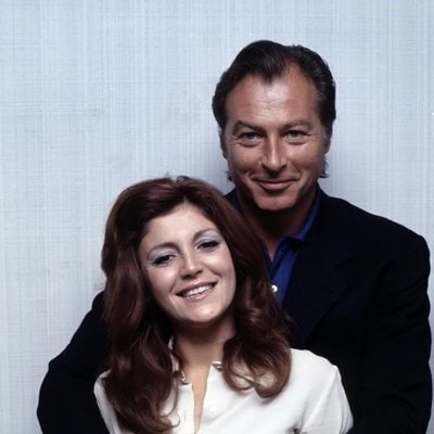 Carmen Cervera junto a su primer marido, al actor Lex Barker