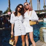 Emily Ratajkowski y Elsa Hosk en el festival Coachella 2018