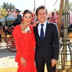 Manuel Díaz 'El Cordobés' y Virginia Troconis en la Feria de Abril 2018