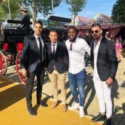 Marc Bartra y varios amigos en la Feria de Abril 2018