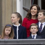 Mary de Dinamarca con sus cuatro hijos en el 78 cumpleaños de Margarita de Dinamarca