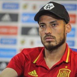 David Silva con la selección española